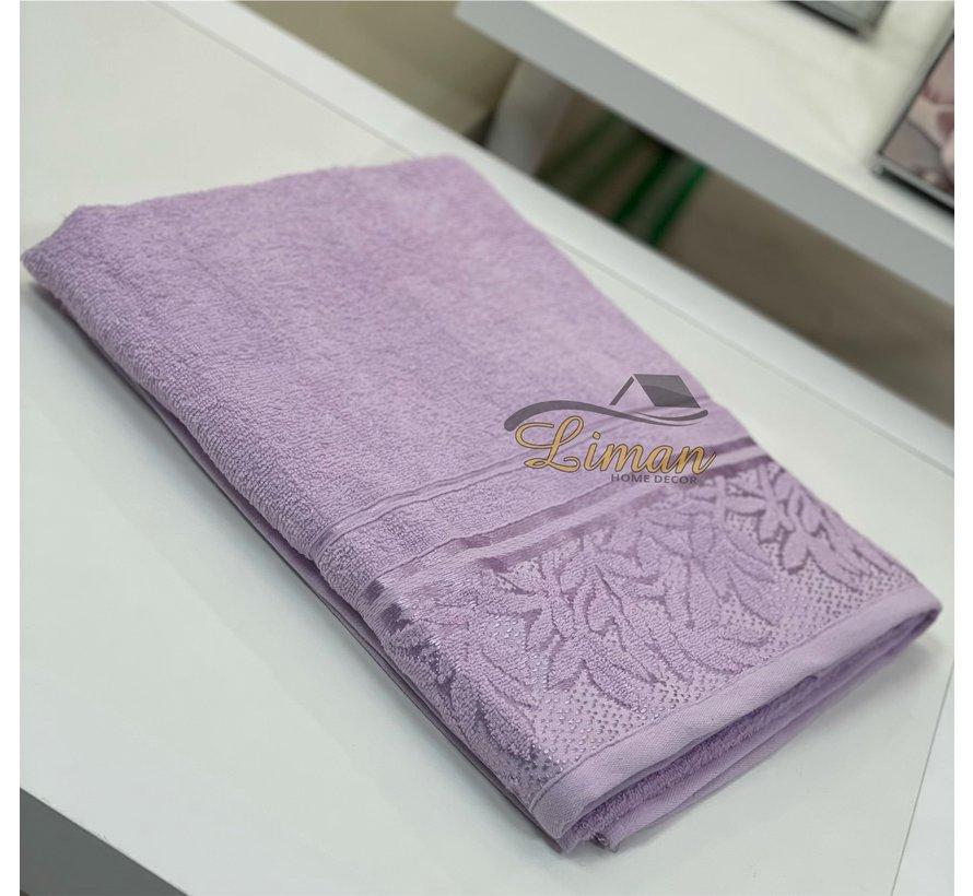 Ipekce Glory Handdoek 90 x 150 Cm Lila / Licht Paars