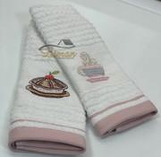 IPEKCE Ipekce Keuken Handdoek 30 x 50 Cm 2 Delig Roze
