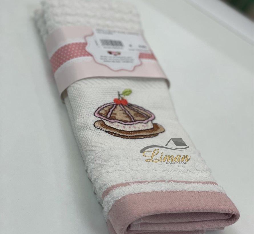 Ipekce Keuken Handdoek 30 x 50 Cm 2 Delig Roze