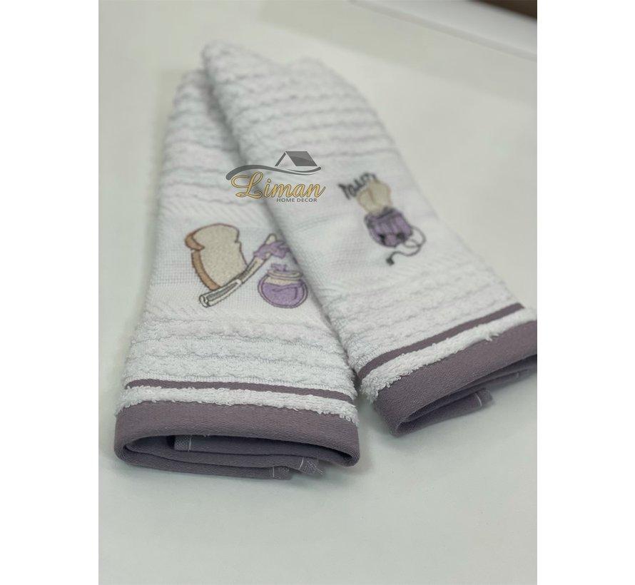 Ipekce Keuken Handdoek 30 x 50 Cm 2 Delig Paars