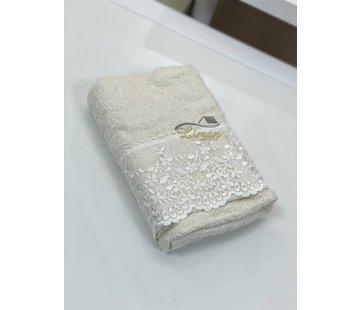 IPEKCE Ipekce Efsun Handdoek 50 x 90 cm Cream