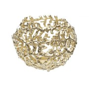 BOWL CORAL GOLD 16X19CM NICKEL