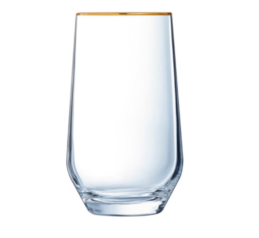 Cosy 4 Delig Drink Glazenset Gouden Rand 400 ML