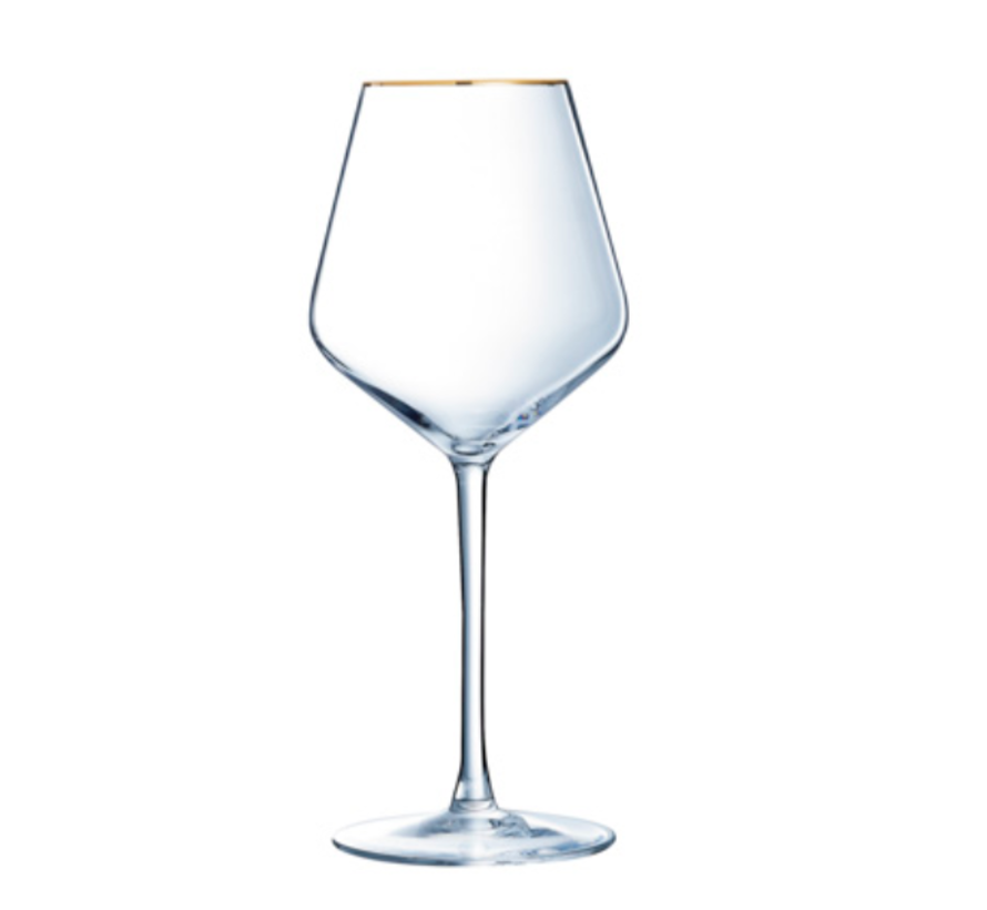 Cosy Wijnglazen Met Gouden Rand 470ML 4 Delig