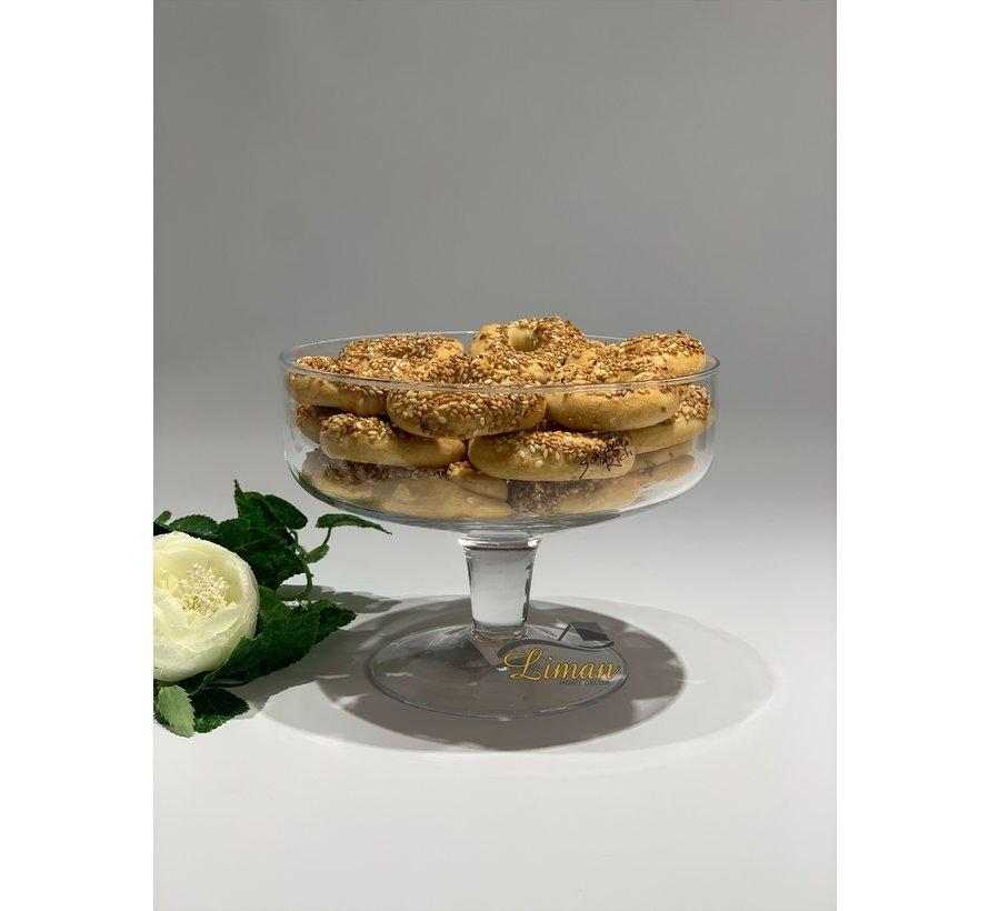 Cosy Glazen Schaal Met Voet Klein 20 cm