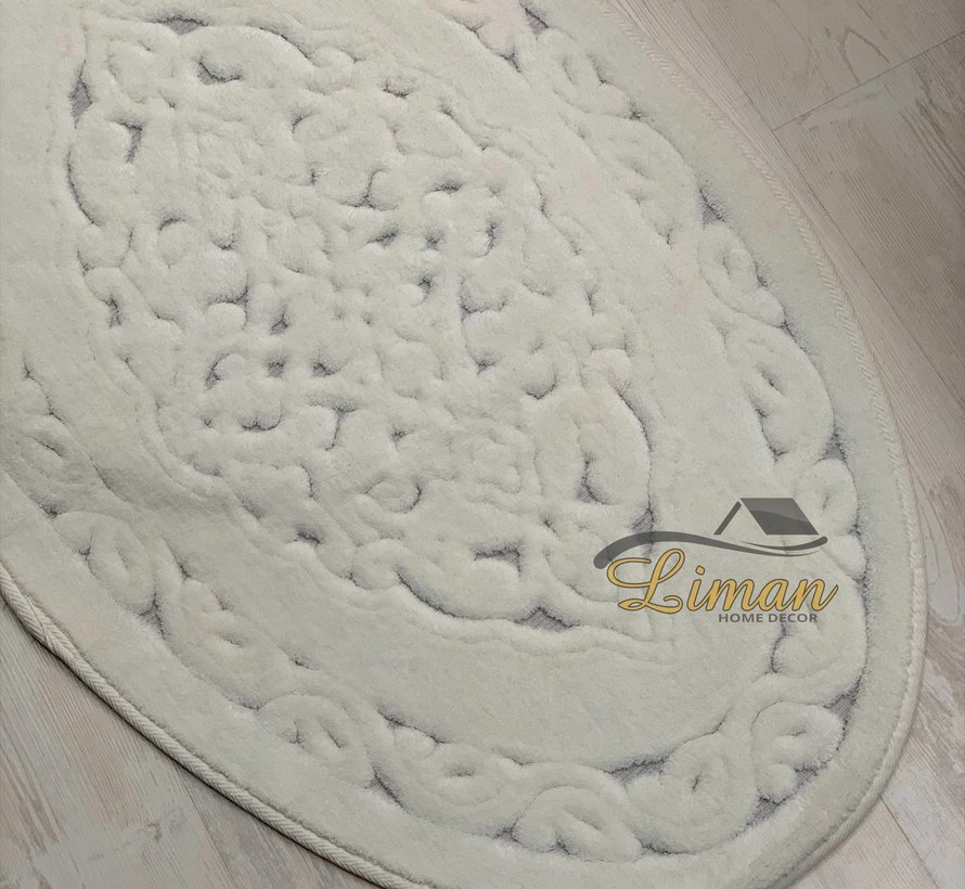 4K Ovaal Badmatset Cream