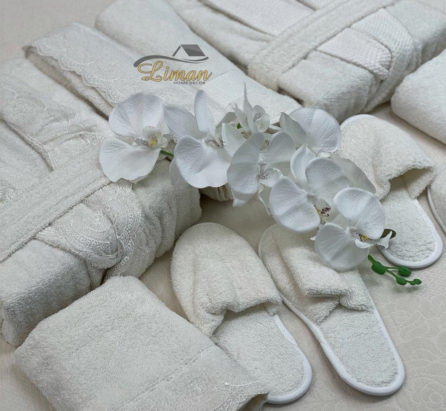 Ipekce Beril 8 - Delige Badjas set  Cream /