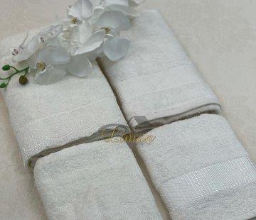 IPEKCE Ipekce Beril Handdoek set 4 Dlg Cream / Cream