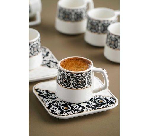 ACR Acr Marrakesh Damask Espresso set 12 Delig