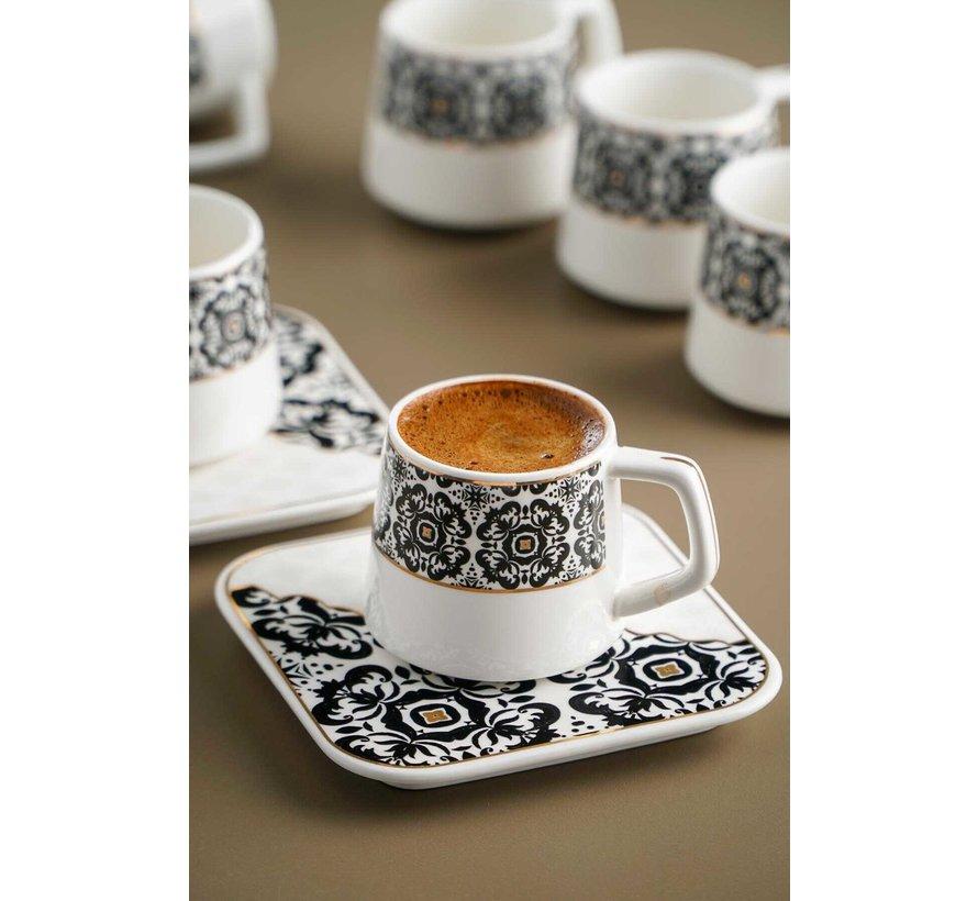 Acr Marrakesh Damask Espresso set 12 Delig