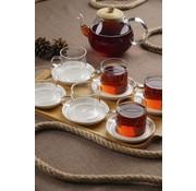 ACR Acr Enjoy 6lı Bambu Tepsili Kahve ve  Çay Seti