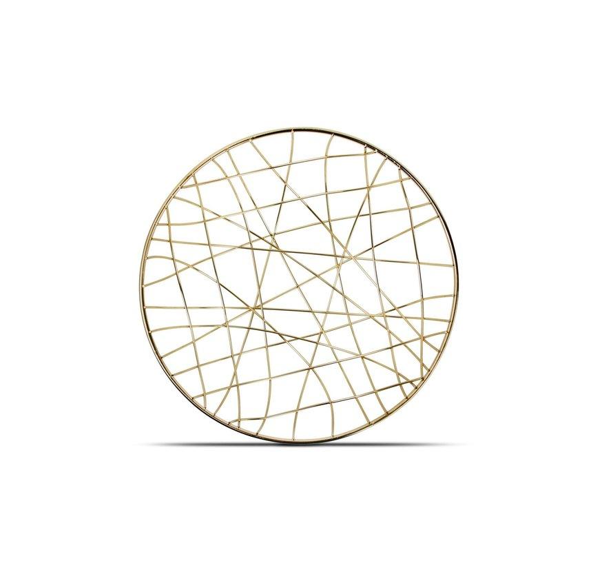 Draadmand 25xH10cm goud Mazy