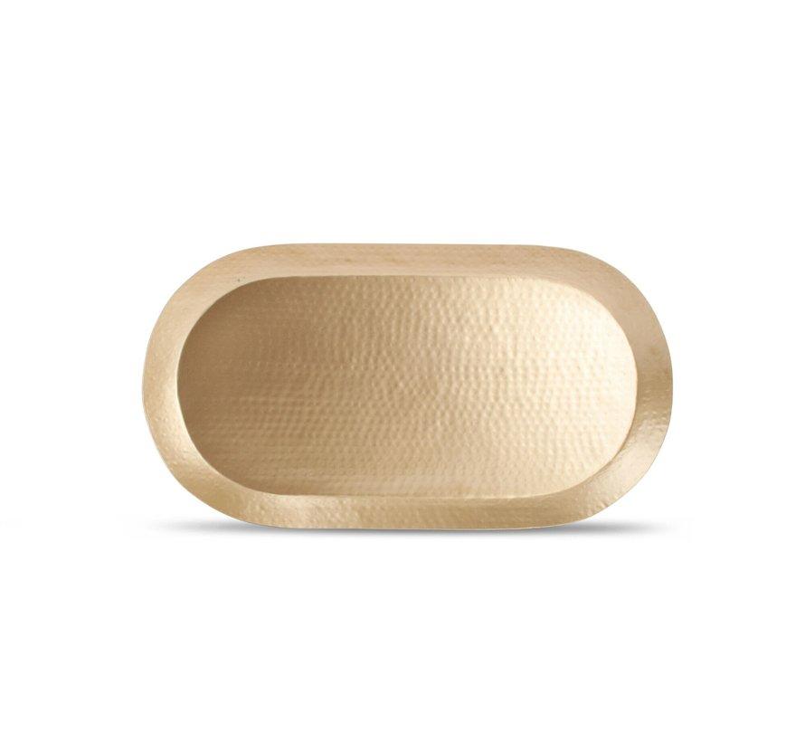 Dienblad 46x25xH2,5cm goud Gala