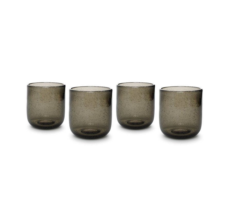 Glas 33cl smoked Sparkle - set/4