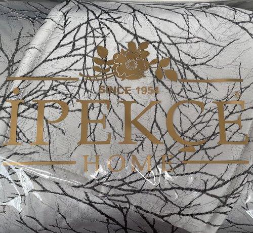 IPEKCE Ipekce Pirlanta Bedspreiset 4 Delig Zilver - Zwart
