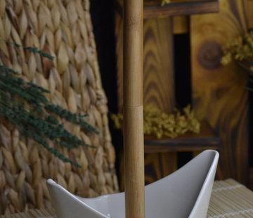 ACR Acr Porselein met Bamboe Keukenrolhouder