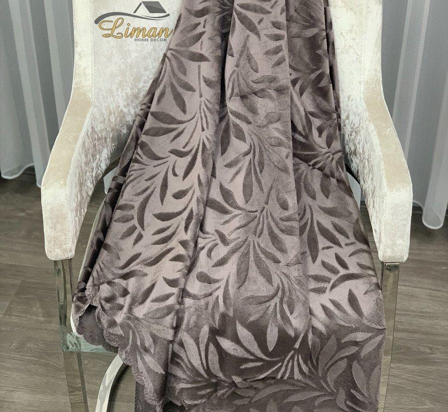 Bankhoes Bruin 170 x 215 cm