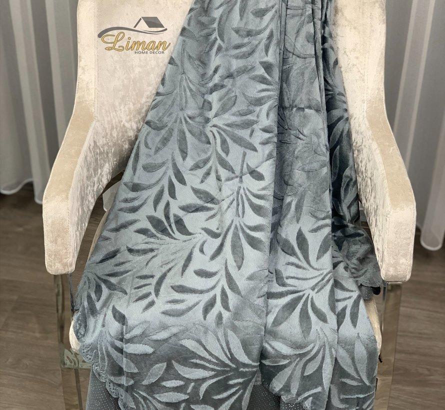 Bankhoes Donker Grijs 170 x 215 cm