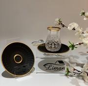 Glazze Paris Luxe Theeglazen Set Goud / Zwart 12 Delig