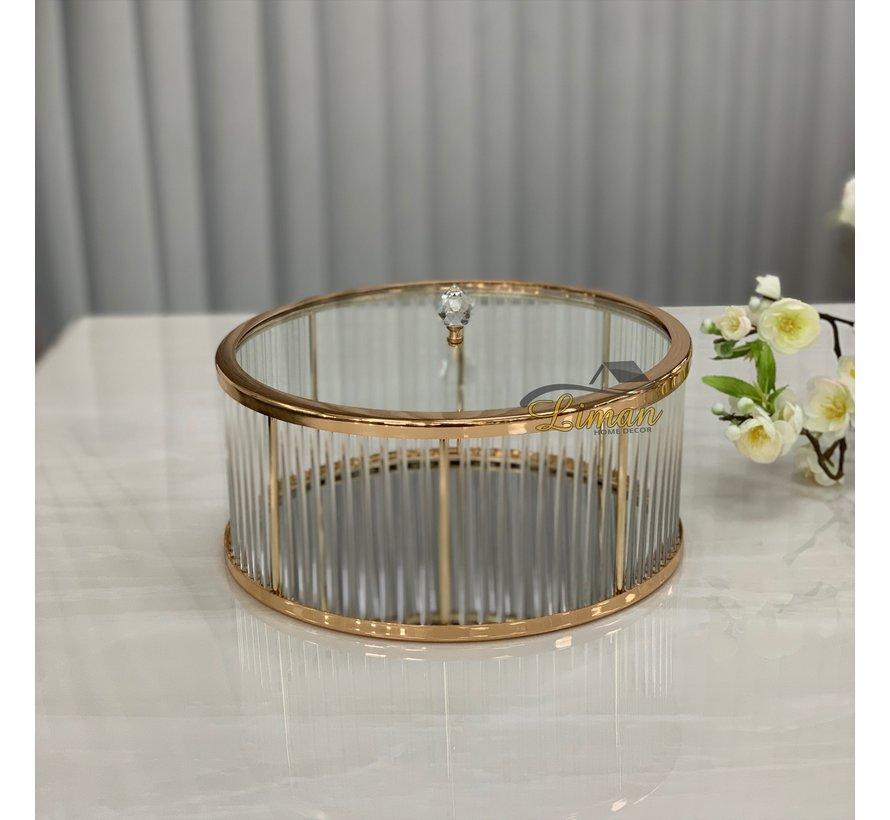 Fugurato Elegance Antalya Platteau / Bonbonniere Goud