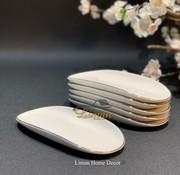 BRICARD PORCELAIN Bricard Porcelain Evry Wit - Zilver 6 Delig Serveerschaal