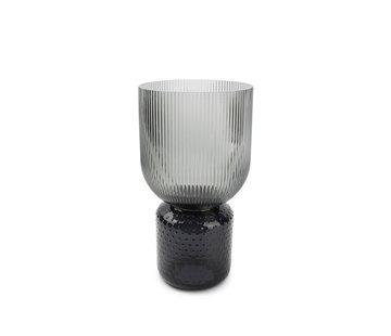 ATS Coco Vase 16xH31cm smoked