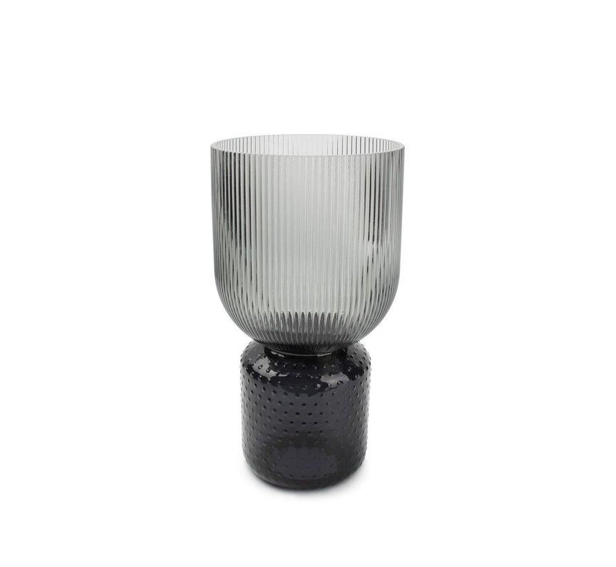 Coco Vase 16xH31cm smoked