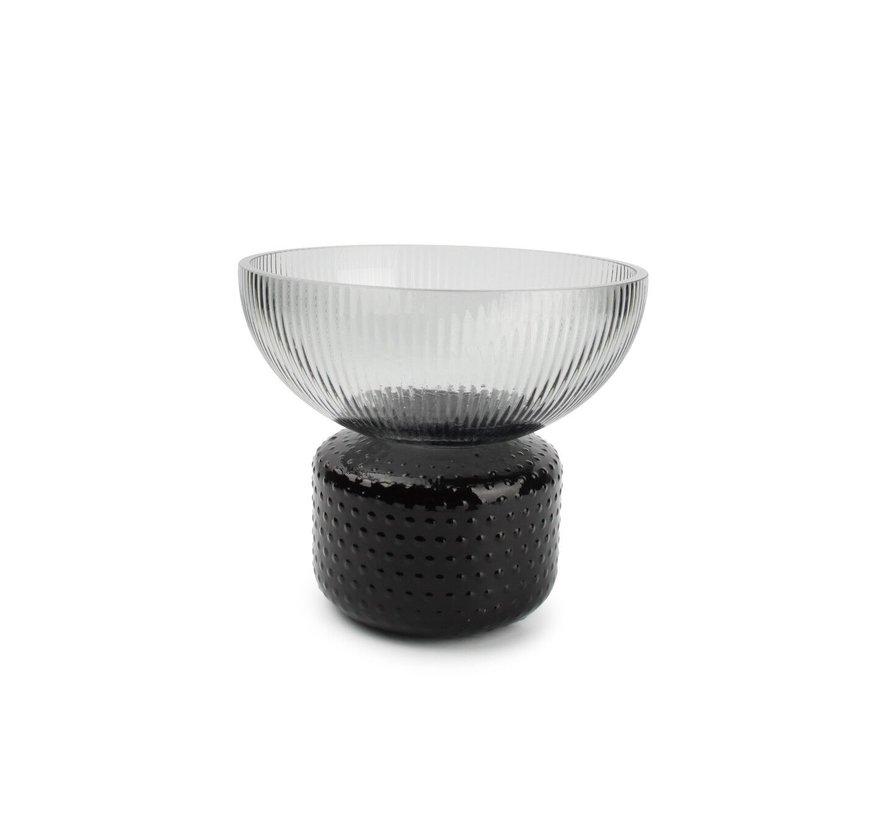 Coco Vase 22xH19cm smoked