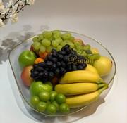 BRICARD PORCELAIN Bricard Sis Fruitschaal 40 Cm Goud - Transparant