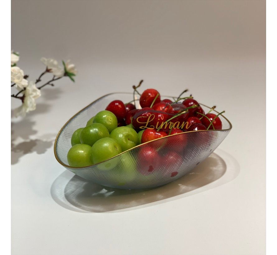 Bricard Sis Fruitschaal 18 x 21 Cm Goud - Transparant