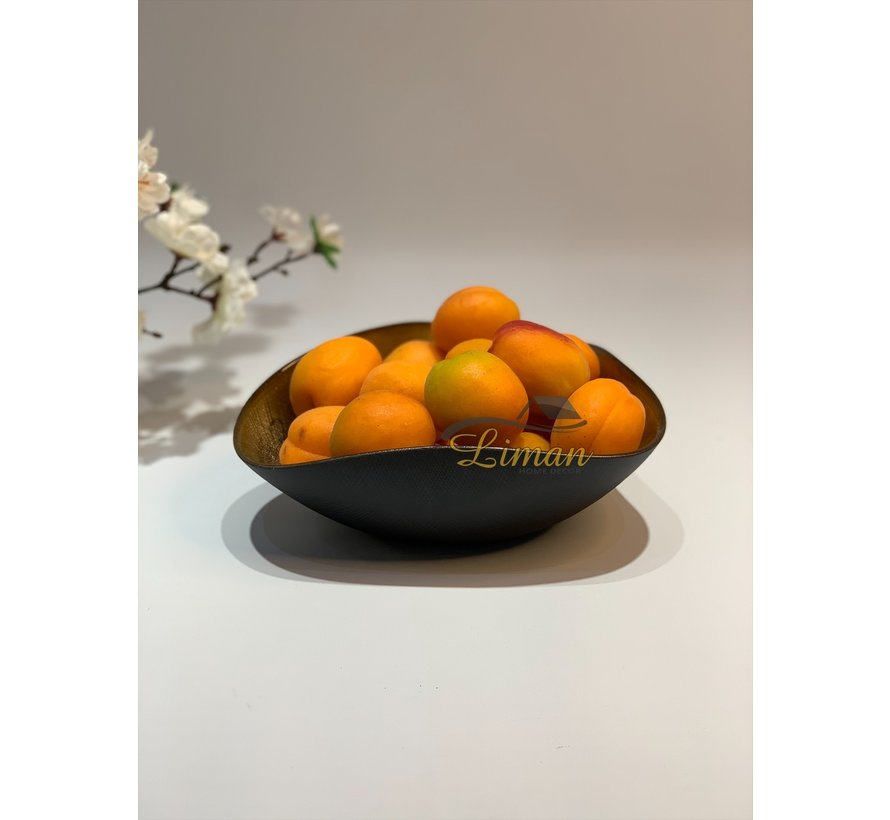 Bricard Sis Fruitschaal 18 x 20 Cm Goud - Zwart