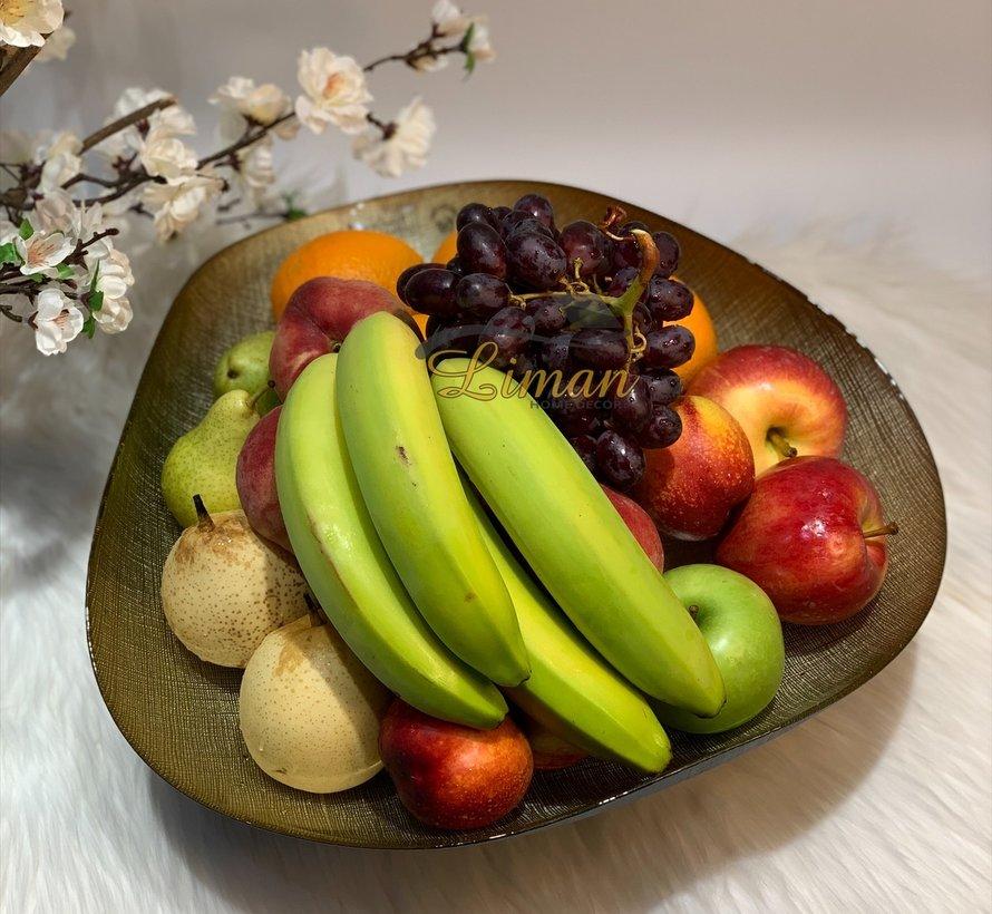 Bricard Sis Fruitschaal 40 Cm Goud - Zwart