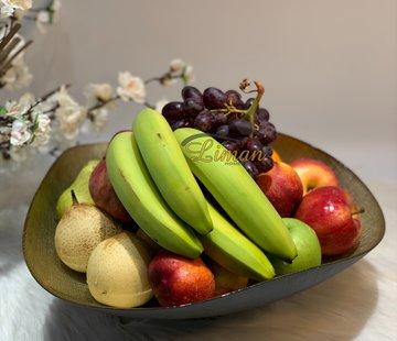 BRICARD PORCELAIN Bricard Sis Fruitschaal 40 Cm Goud - Zwart