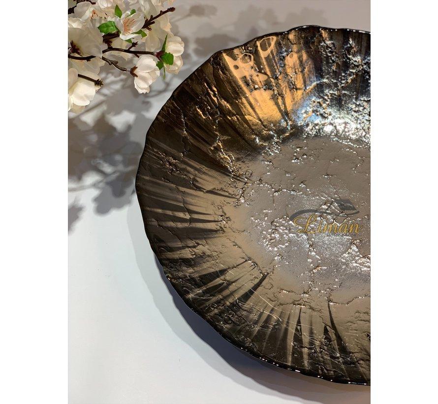 BRICARD MOON FRUITSCHAAL | 40 CM GRIJS