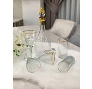BRICARD PORCELAIN Bricard Celine Glazenset 12-Persoons | 25-Delig Goud