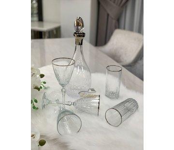 BRICARD PORCELAIN Bricard Celine Glazenset 12-Persoons | 25-Delig Zilver