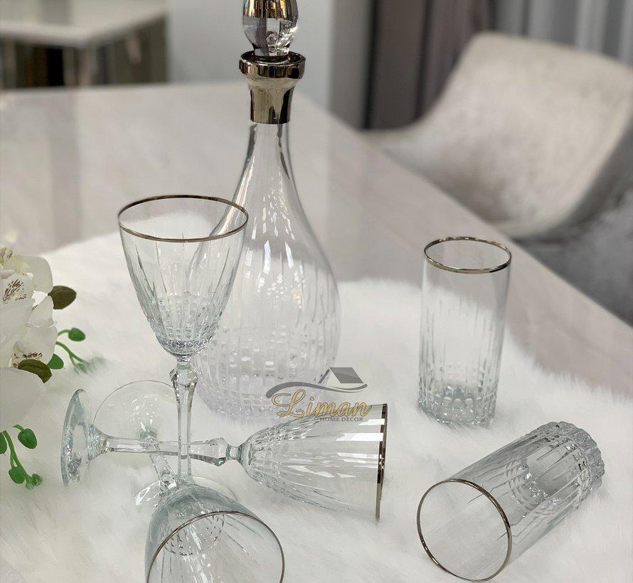 Bricard Celine Glazenset 12-Persoons   25-Delig Zilver