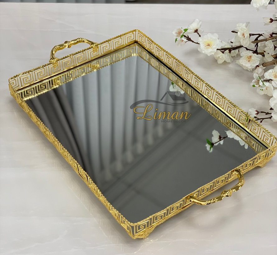 Athena Rechthoek Dienblad Gold