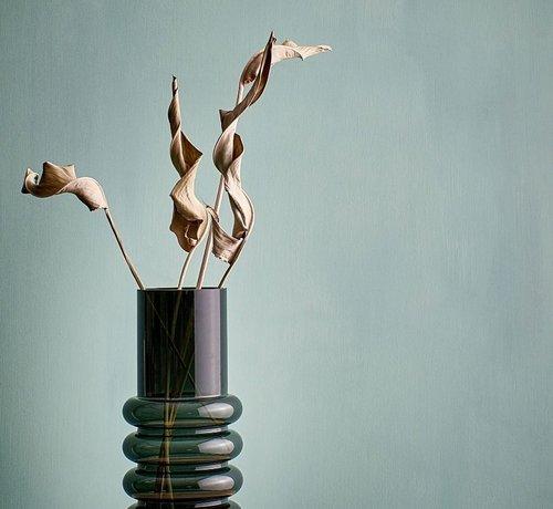 ATS Bold Vase 15xH36cm schwarz