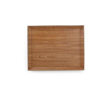 BonBistro Serving tray 38x30xH2,5cm brown Buffet