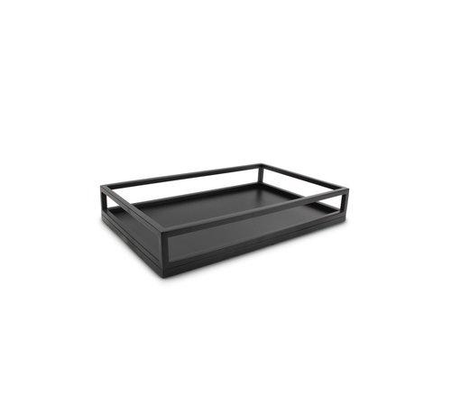 S P Collection Dienblad 39,5x24,5xH7cm zwart Digna