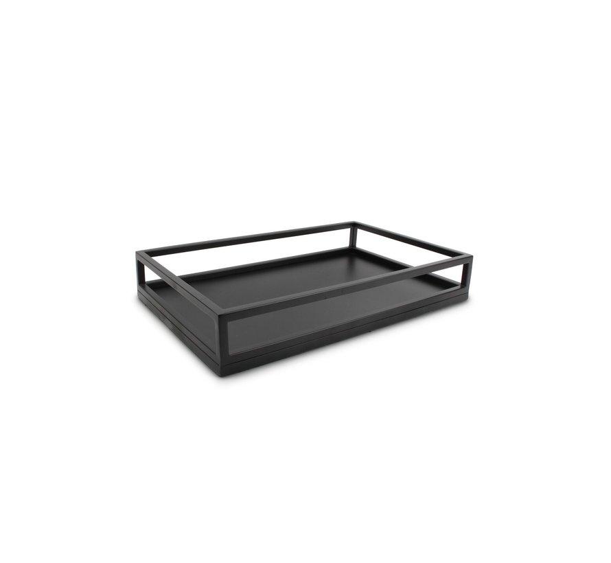 Dienblad 39,5x24,5xH7cm zwart Digna