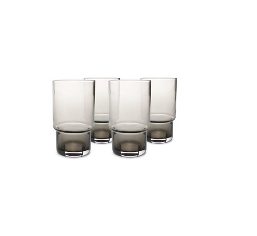 S|P Collection Glas 35cl smoked Secrets - set/4