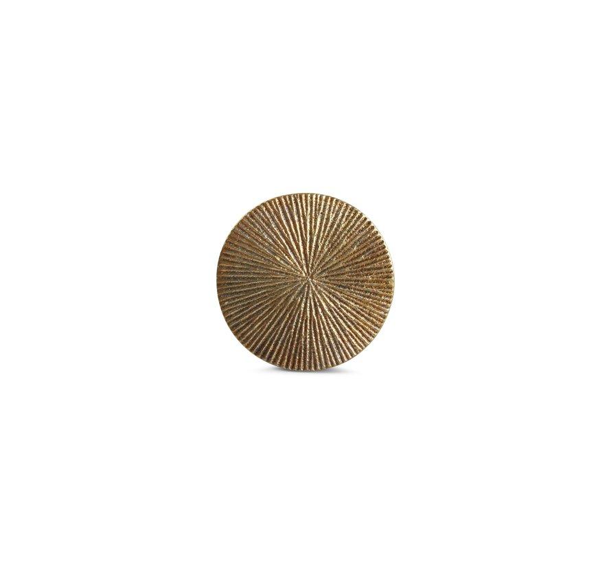 Glasonderzetter 10cm geribbeld goud Charm - set/4
