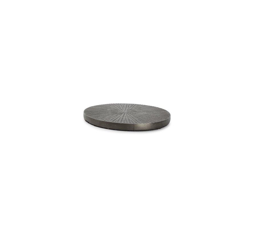 Glasonderzetter 10cm geribbeld zwart Charm - set/4