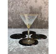 S|P Collection S|P Collection Glasonderzetter zwart Cheers - set/4