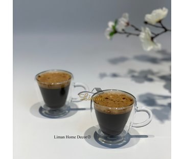 Cosy Cosy Isolatie Dubbele Wand Espresso kopjes 6  cl 2 Delig