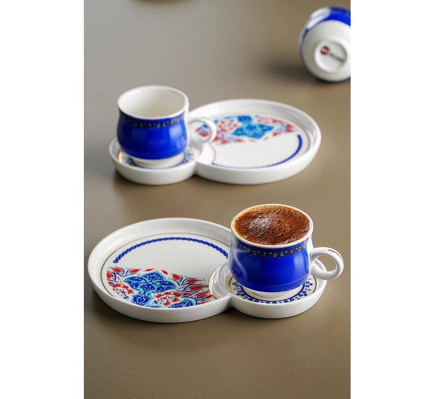 Acr Royal Batic Espresso set 12 Delig  - Blauw