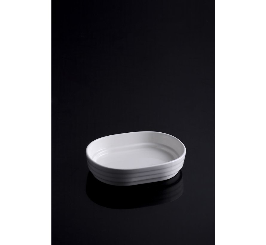 ACR Bianco Perla Ovaal Serveerschaal 6 Delig 13,2 Cm