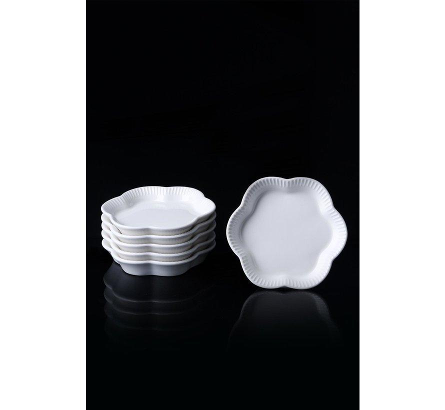 ACR Bianco Perla Porseleinen Theeschotels 6 Delig 11,6 Cm